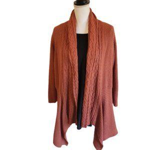 Sonoma Life + Style Burnt Orange Open Cardigan